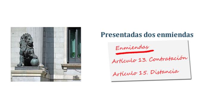 Presentación de enmiendas