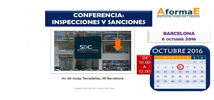 Conferencia sobre inspecciones y sanciones en BARCELONA el 6 de octubre de 2016