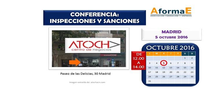 Conferencia sobre inspecciones y sanciones en MADRID el 5 de octubre de 2016