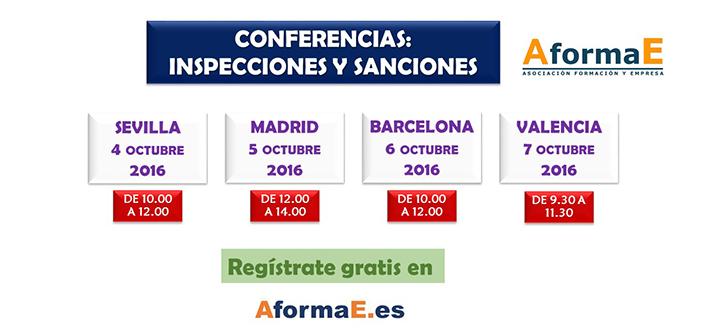 Conferencias sobre inspecciones y sanciones en octubre de 2016