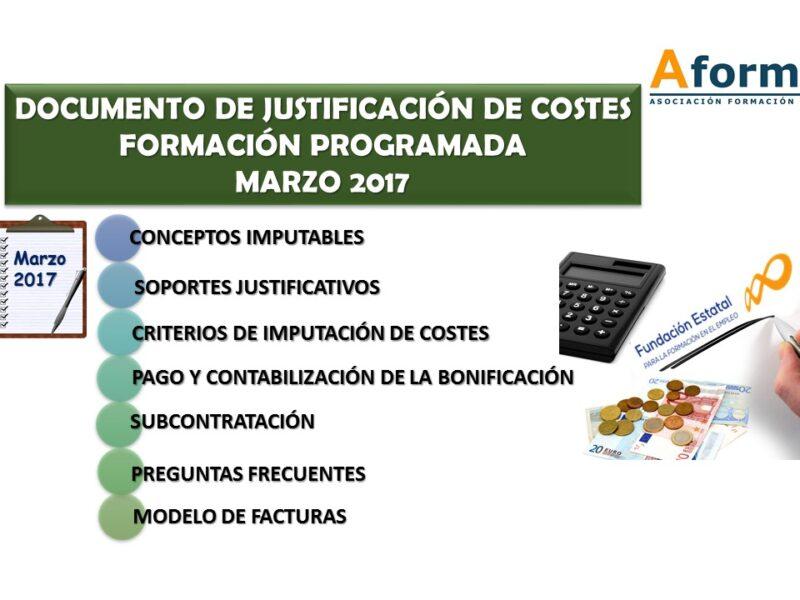 Documentos costes FUNDAE marzo 17
