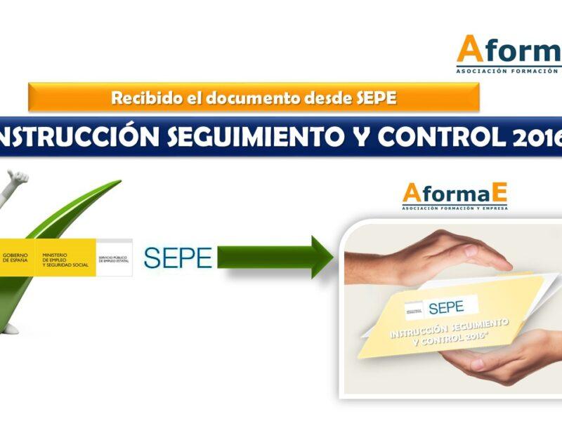 """Recibido el documento """"Instrucción Seguimiento y control 2016"""" de SEPE"""