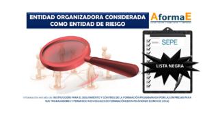 Lista negra de Entidades Organizadoras