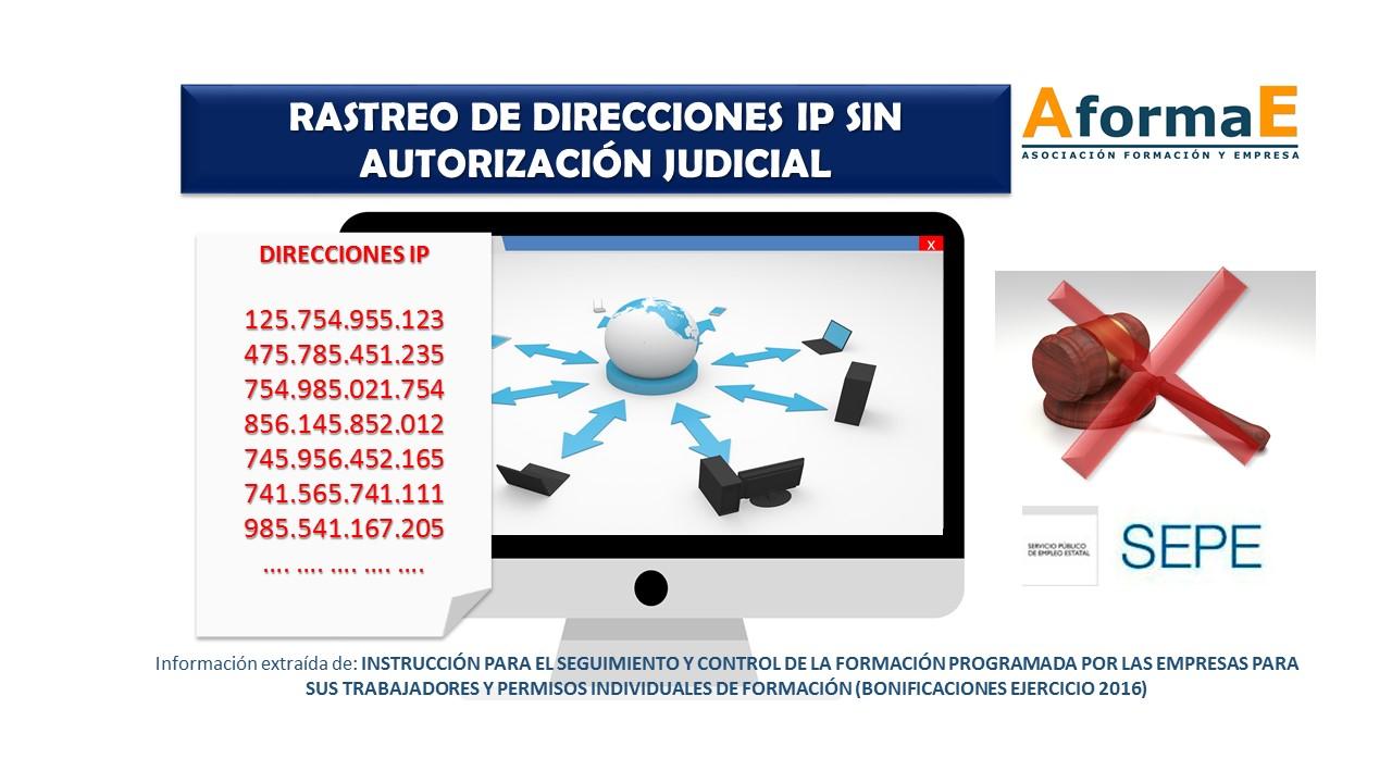 Rastreo de direcciones IP sin autorización judicial