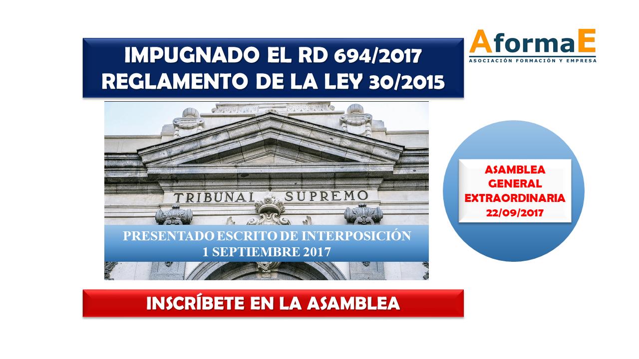 IMPUGNADO RD 694/2017