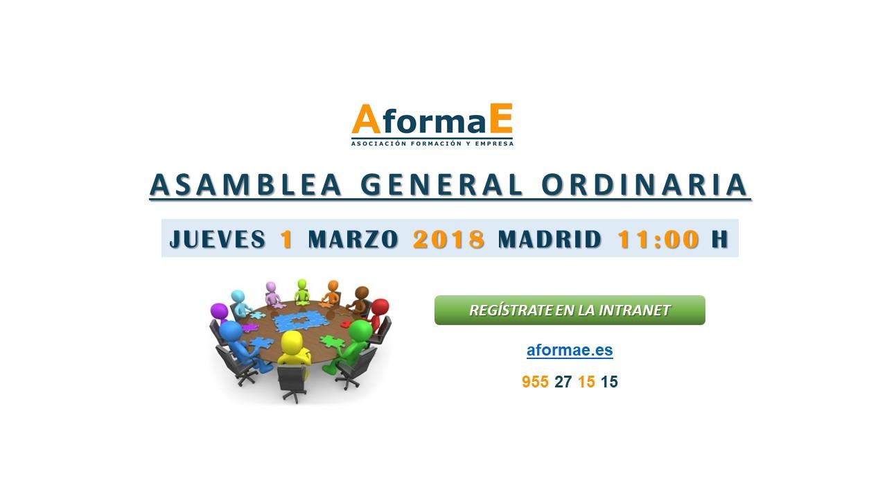 aformae asamblea general ordinaria madrid 2018