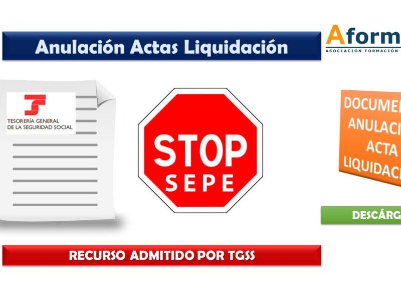 Anulación Acta Liquidacion