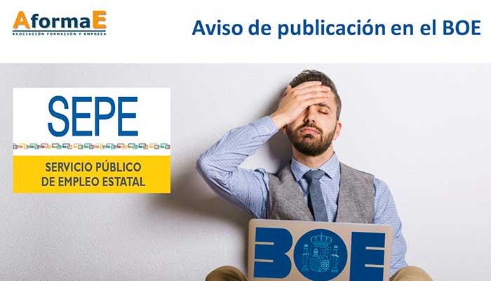 AformaE_aviso_SEPE_publicacion_BOE